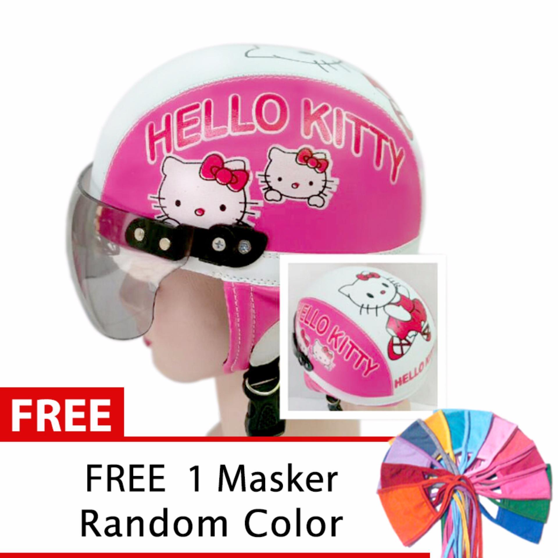 Toserba - Helm Anak Lucu Usia 1-4 Tahun Karakter Hello Kitty