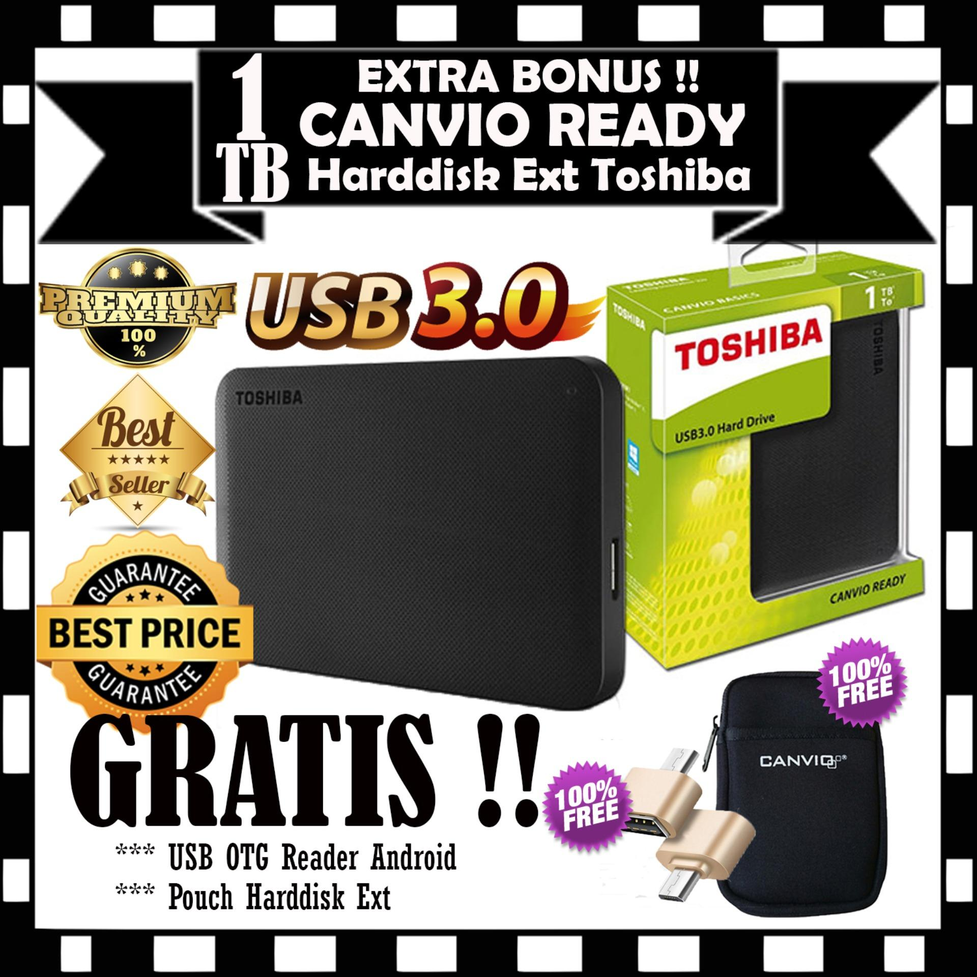 Jual Beli Toshiba 1Tb Canvio Ready Black Gratis Pouch Harddisk Usb Otg Reader Android