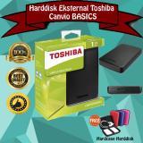 Toko Toshiba Canvio Basic 1Tb Hdd Hd Hardisk Eksternal Hitam Gratis Case Harddisk Online Terpercaya
