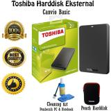 Spesifikasi Toshiba Canvio Basic 2Tb Hdd Hd Hardisk Eksternal Hitam Gratis Pouch Harddisk Cleaning Kit Pembersih Pc Notebook Dan Harganya