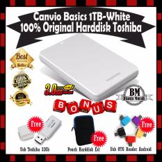 Harga Toshiba Canvio Basics 1Tb Hdd Hd Hardisk Eksternal Putih Gratis Usb Toshiba 32Gb Pouch Harddisk Usb Otg Card Reader Yang Murah Dan Bagus