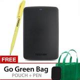 Toko Toshiba Canvio Basics 1Tb Portable Hard Drive Hitam Gratis Go Green Bag Pouch Pen Termurah