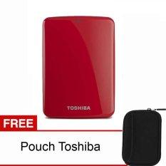 Harga Toshiba Canvio Connect 1Tb Merah Pouch Toshiba Baru