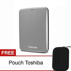 Spesifikasi Toshiba Canvio Connect 1Tb Silver Pouch Beserta Harganya