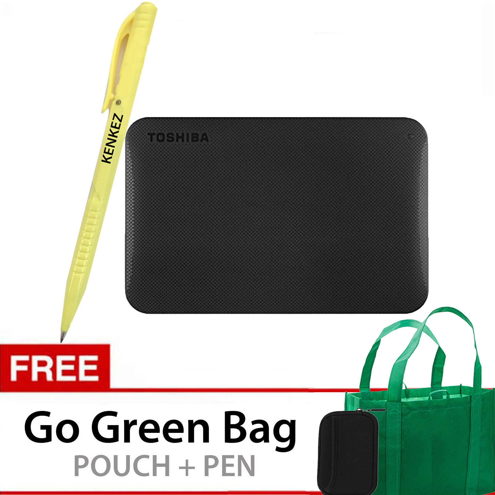 Promo Toshiba Canvio Ready 1Tb Gratis Go Green Bag Pouch Pen Akhir Tahun