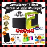 Beli Toshiba Canvio Ready 1Tb Harddisk External Gratis Pouch Harddisk Kabel Charger Casan Android Usb Otg Reader Andorid Card Reader Microsd Nyicil