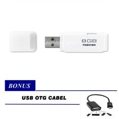 Toshiba Flashdisk 8GB - Putih + Gratis OTG USB Cable for Android