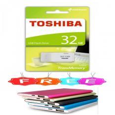 Toshiba Flashdisk - Flash Drives USB Flash Memory 32GB + Free PowerBank Slim Warna Random