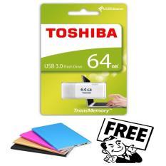 Toshiba Flashdisk Flash Drives USB Flash Memory 64 GB + Free PowerBank Slim Warna Random