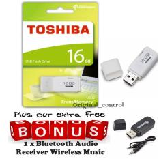 Toshiba Flashdisk Hayabusa 16GB, FREE Bluetooth Audio Receiver Wireless Music