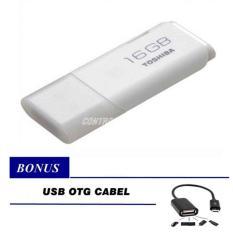 Diskon Toshiba Flashdisk Hayabusa 16Gb Putih Gratis Otg Usb Cable For Android Toshiba