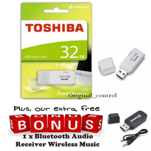 Toshiba Flashdisk Hayabusa 32GB, FREE Bluetooth Audio Receiver Wireless Music - Flash Drives [DKI Jakarta]   DuniaAudio.com