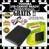 Toshiba Harddisk Eksternal 2Tb Canvio Ready Gratis Usb Otg Reader Android Kabel Charger Micro Android Asli