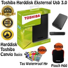 Tips Beli Toshiba Hdd External Canvio Basic Usb 3 1 Tb Hitam Free Pouch Harddisk Tas Waterproof Hp Yang Bagus