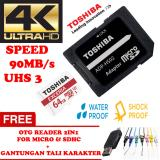 Harga Toshiba Micro Sd Card With Adapter 64Gb Class10 Uhs 3 90Mb S Micro Sd 64Gb Memory Card 1080P Full Hd 3D 4K Video Card Gratis Reader 2In1 For Micro Sdhc Gantungan Tali Karakter Lucu Murah