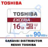 Toshiba Microsd 16Gb Exceria Uhs I 90Mb S Sd Adapter Toshiba Diskon
