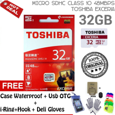 Jual Toshiba Original Micro Sd 32Gb Exceria Uhs 1 Class 10 Speed 48Mb S Gratis Case Waterproof I Ring Hook Otg Android Deli Gloves Branded