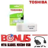 Jual Toshiiba Flasdisk 64Gb Bonus Otg Kabel Micro Usb Branded Original