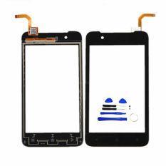 Digitizer Layar Sentuh Hitam untuk HTC Desire 210 Layar Sentuh Depan Digitizer Kaca Sensor Panel Sentuh Touchpad (Bebas + 3 M Tape + Membuka Alat Perbaikan + Lem)