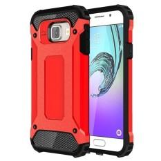 Sulit Armor TPU + Kombinasi PC Case untuk Samsung Galaxy A3 (2016)/A310 (Merah)-Intl