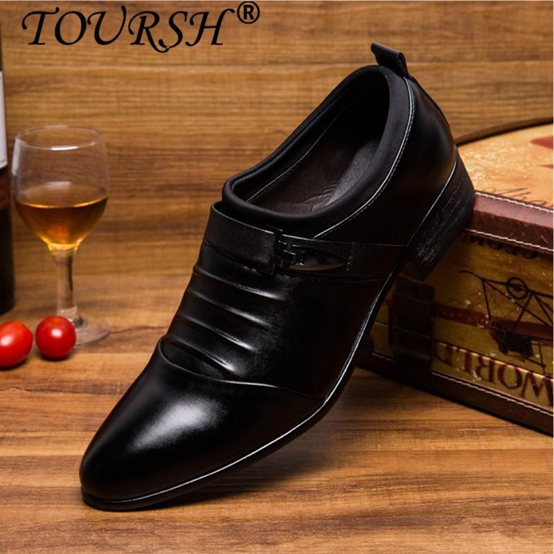 Ulasan Lengkap Tentang Toursh Mewah Pria Formal Sepatu High Heels Bisnis Gaun Sepatu Pria Oxfords Runcing Toe Sepatu Oxford Untuk Pria Pernikahan Kulit Sepatu Intl
