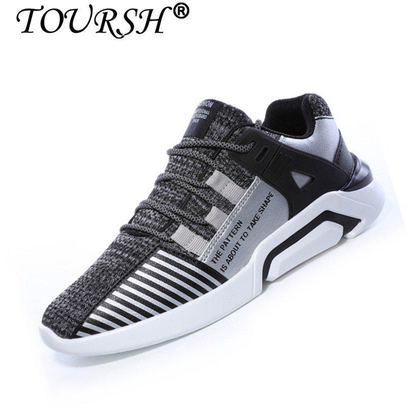 TOURSH Pria Kasual Sepatu Pria Sepatu Sneakers Berlari Sepatu Olahraga  Sepatu Basket Sepatu-Intl 8279614644