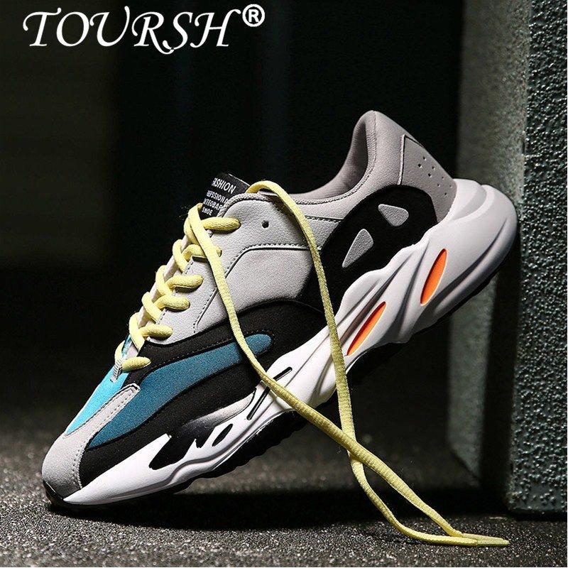 Beli Toursh Pria Sepatu Kasual Gaya Renda Waterproof Suede Fashion Man Sepatu Sneakers Runing Sepatu Intl Cicil