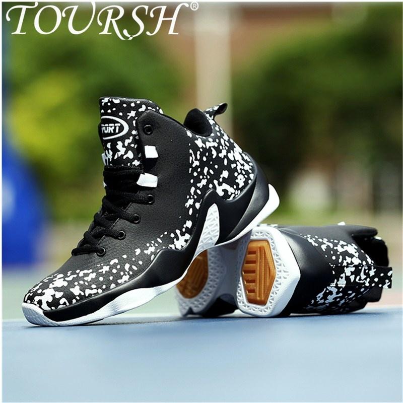 TOURSH Sepatu Basket Pria Bola Basket Karet Boots Shock Penyerapan Bernapas Sepatu Atletik Olahraga Sneakers untuk Bola Basket Sepatu Lari- INTL