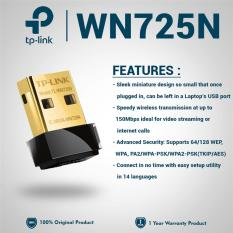 Jual Tp Link Nano Usb Wifi Wireless Adapter 150 Mbps Tl Wn725N Hitam Satu Set