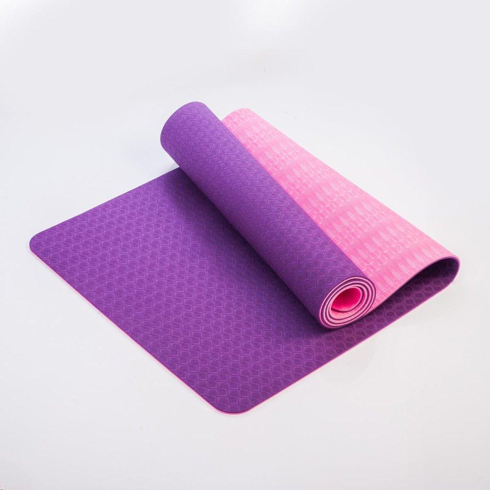 TPE Yoga Mat 6mm Double Warna-Intl