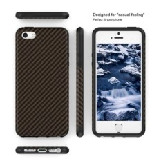 TPU Carbon Case Black Only for Iphone X Softcase TPU - Hitam