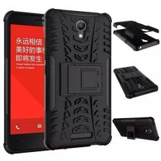 TPU + PC Anti Knock Hard Armor Style Protector Case Cover For Xiaomi Redmi Note 2 - Black