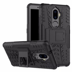 TPU + PC Armor Hybrid Case Cover for Lenovo K8 Plus (Black) - intl