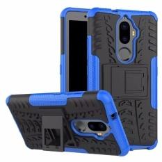 TPU + Buah Pelindung Hibrida Case Sarung Anda Lenovo K8 Plus (Biru)-Internasional