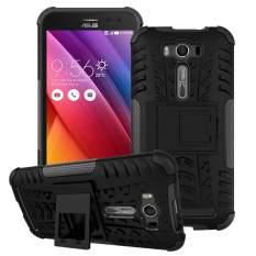TPU Case Asus Zenfone 2 Laser ZE500G ZE500KL Dengan Kaki Penyangga Warna Hitam