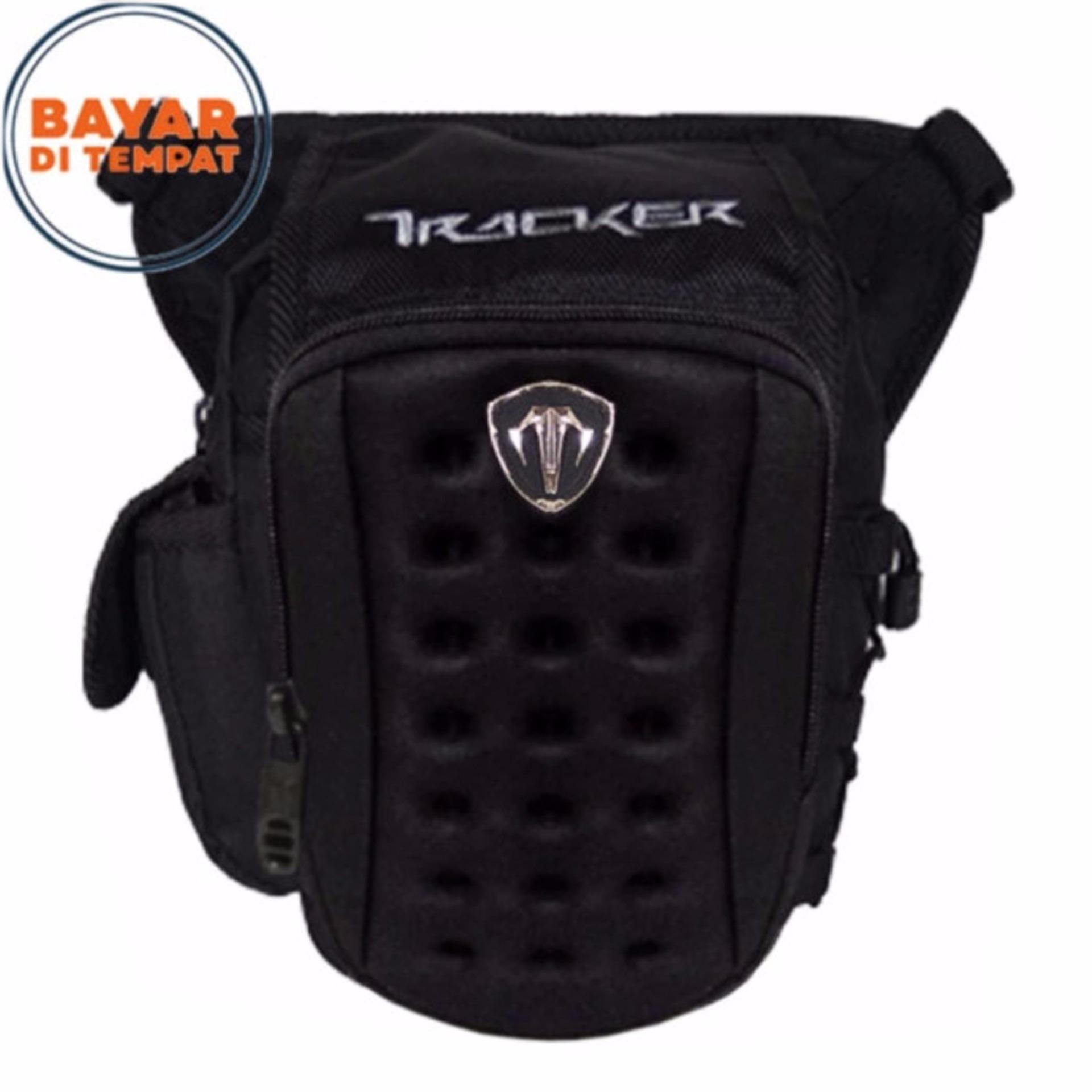 Spesifikasi Tracker Tas Selempang Tas Pinggang Tas Paha Embos 3In1 4215 8 Nylon Original Black Terbaik