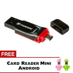 Harga Transcend Flashdisk Otg Jf340 64Gb Untuk Pc Dan Android Hitam Gratis Card Reader Android For Micro Sd Paling Murah