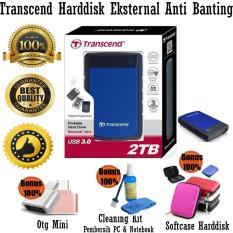 Transcend Harddisk Eksternal Antishock StoreJet 25H3B - 2TB - Biru - Free Softcase Harddisk + Cleaning Kit ( Pembersih PC & Notebook ) + Otg Mini Reader