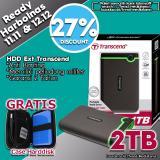 Spek Transcend Harddisk Eksternal Antishock Storejet 25M3 2Tb Hitam Free Case Transcend
