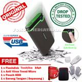 Toko Transcend Harddisk Eksternal Antishock Triple Protection Storejet 25M3 1Tb Gratis Flashdisk 32Gb Antivirus Trend Micro Pouch Hdd Sarung Tangan Di Dki Jakarta
