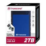 Jual Transcend Storejet 25H3 2Tb Harddisk External Blue Online