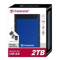 Review Transcend Storejet 25H3 2Tb Harddisk External Blue Di Riau Islands
