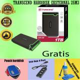 Beli Transcend Storejet 25M3 1Tb Usb3 Antishock Harddisk External Portable 2 5 Gratis Usb Hub 4Port Pouch Harddisk Cleaning Kit Pembersih Pc Notebook Baru