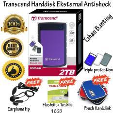 Harga Transcend Storejet Harddisk Eksternal Antishock Tahan Banting 25H3 2Tb Ungu Gratis Flashdisk 16Gb Toshiba Usb 2 Pouch Harddisk Earphone Hp Online Dki Jakarta