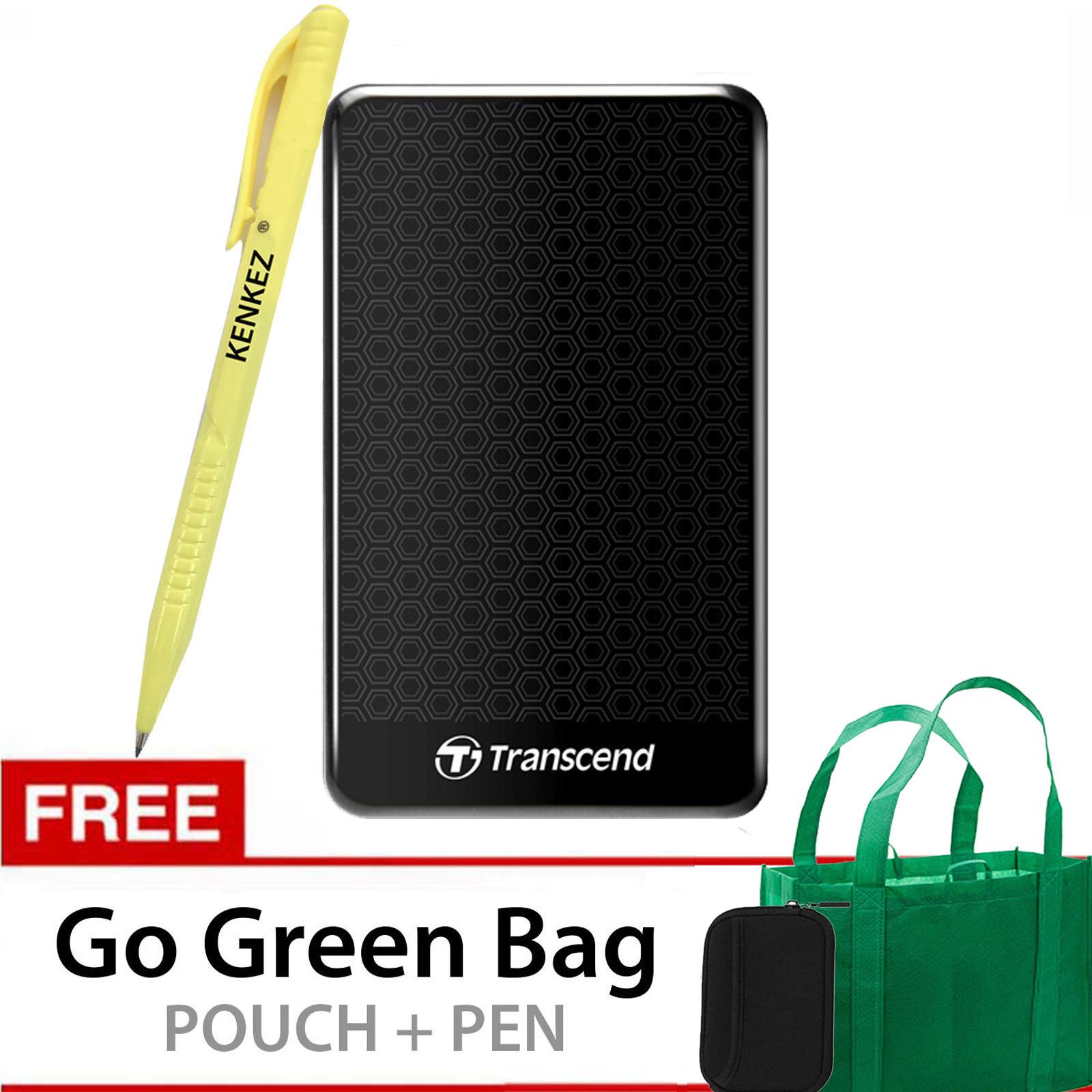 Top 10 Transcend Storejet Usb 3 1Tb Hitam Gratis Go Green Bag Pouch Pen Online