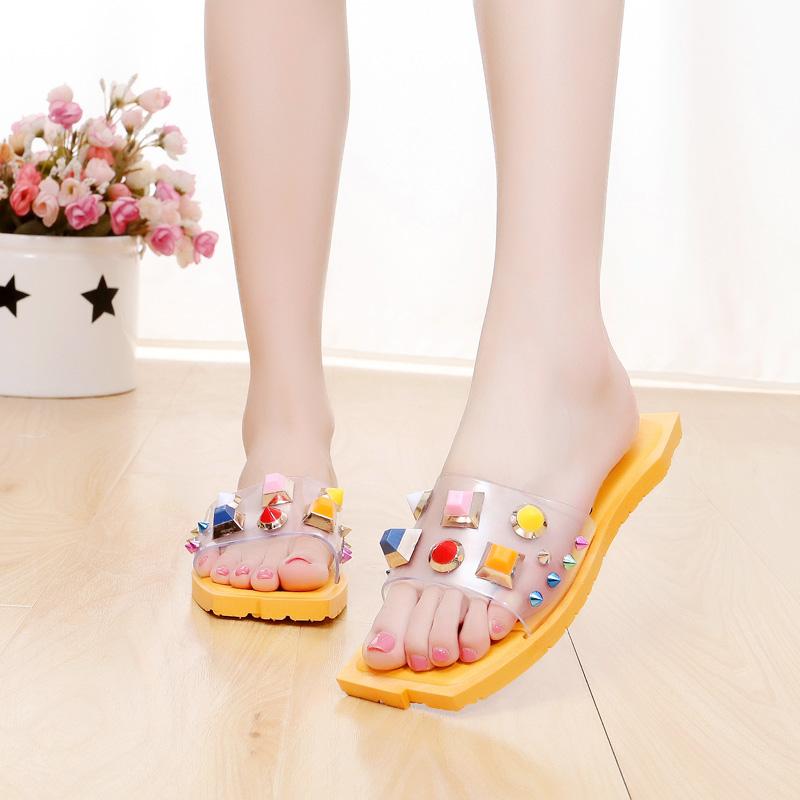 Promo Toko Sandal Wanita Motif Bunga Kuning Kuning
