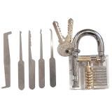 Jual Transparansi Mengunci 5 Buah Alat Pelatihan Lockpicks Ditetapkan Transparansi Perak Not Specified