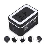 Jual Travel Adapter Universal Internasional All In One Across The World Travel Adaptor Wall Charger Adaptor Adaptor Ac Charger With Dual Port Usb 2 4 Yang For Usa Uk Uni Eropa Aus Hitam Termurah