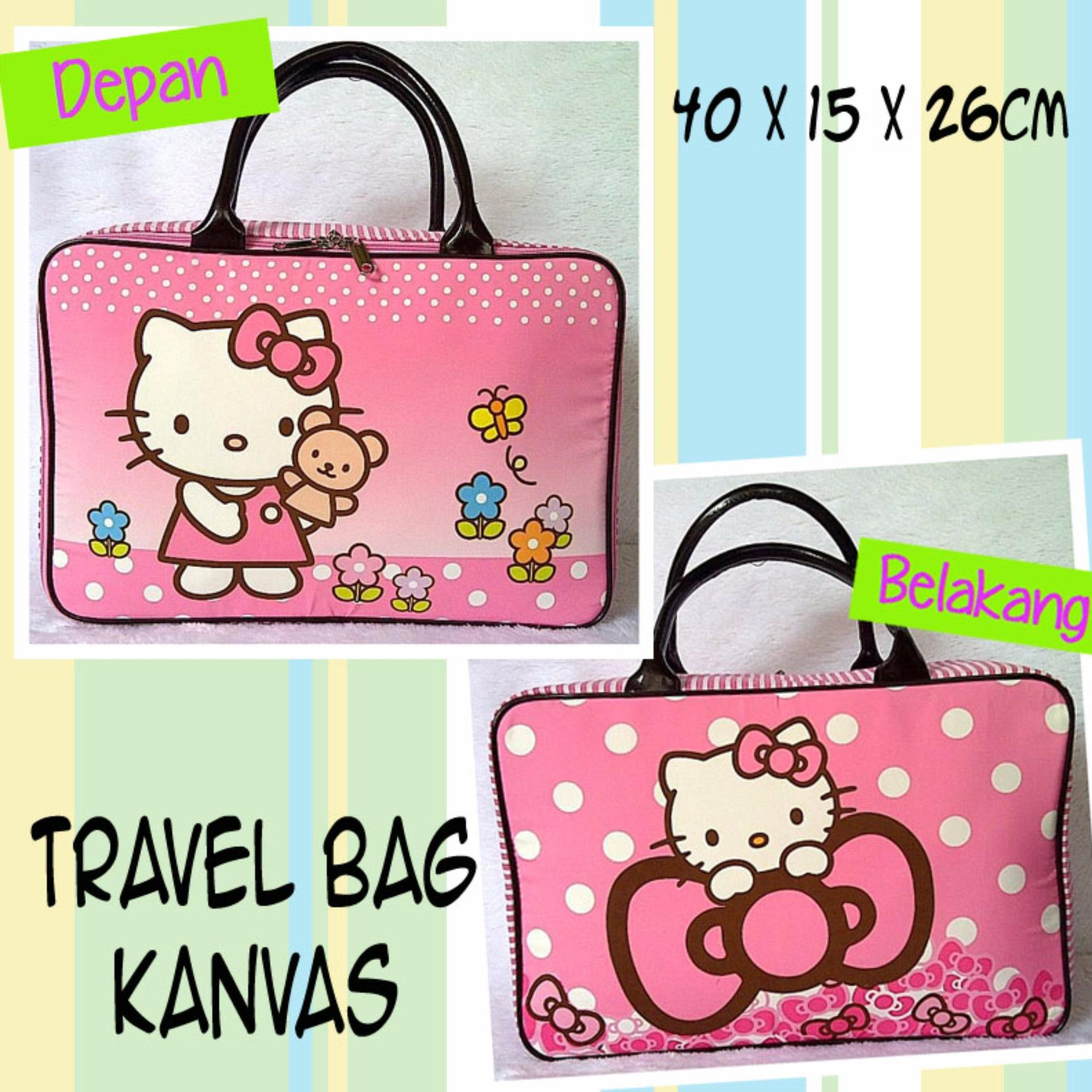 Model Travel Bag Kanvas Hellokitty Pita Terbaru