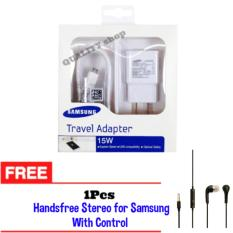 Spesifikasi Travel Charger 15W Samsung Handsfree Stereo For Samsung With Control Paling Bagus